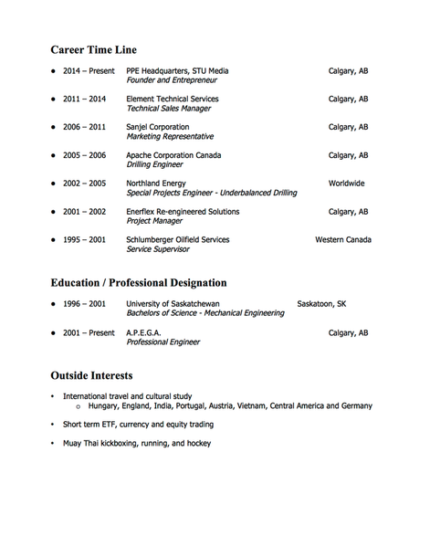 Old Resume Page 2